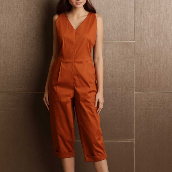 Canvas Phyllis Jumpsuit in Rust