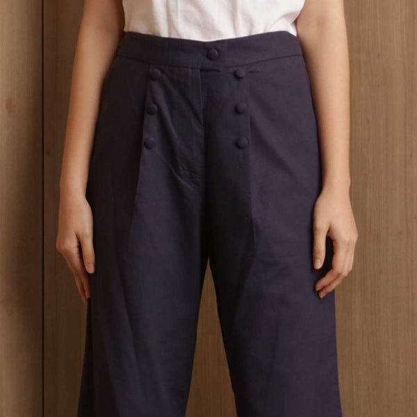 Canvas Rena Pants in Navy