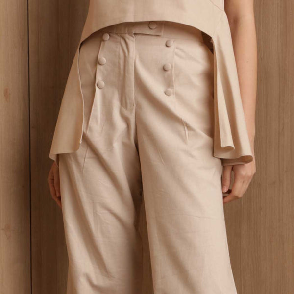 Canvas Rena Pants in Oat