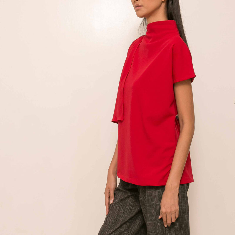 Canvas Sage Top in Red
