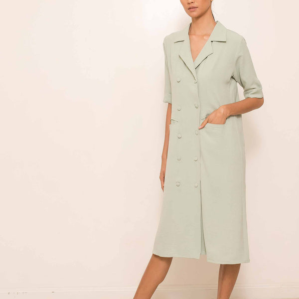 Sterly Dress in Mint Green