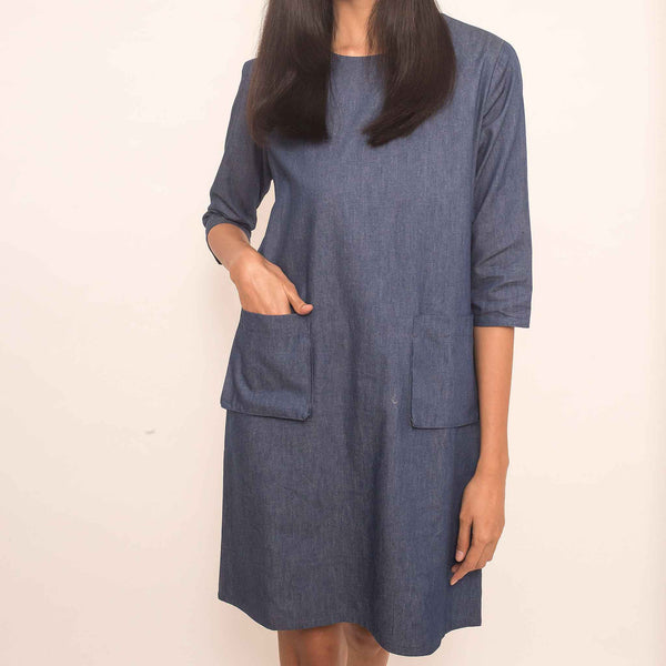 Canvas Vita Dress in Chambray