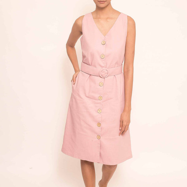 Canvas Wynne Dress in Blush