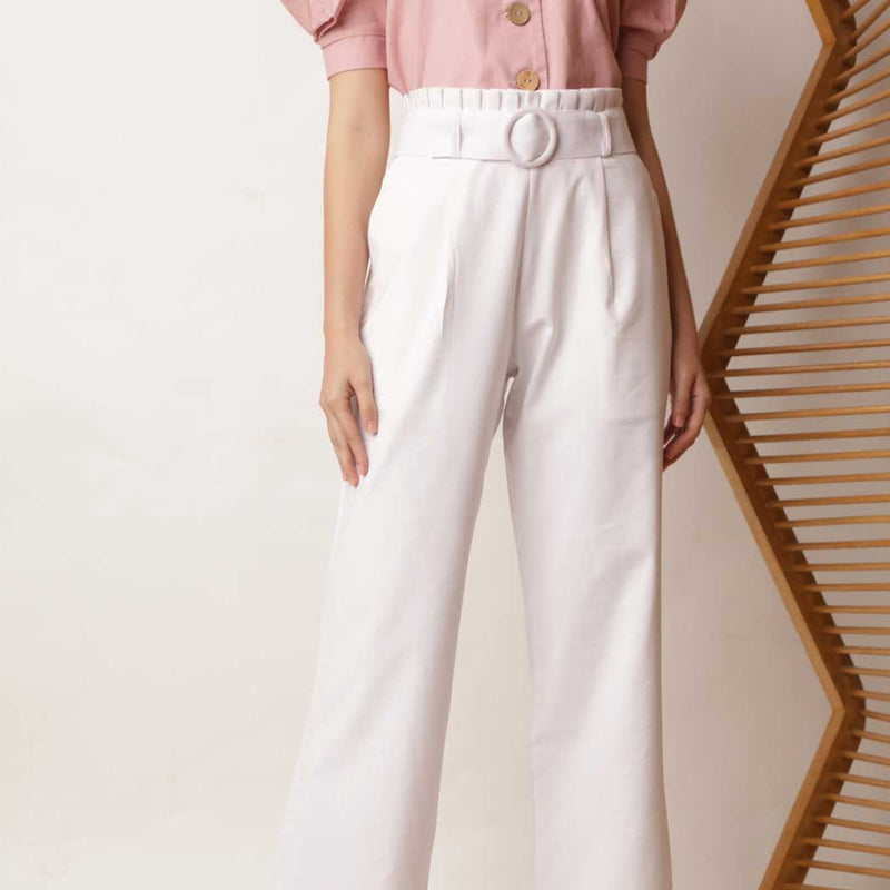 Canvas Xenia Pants in White