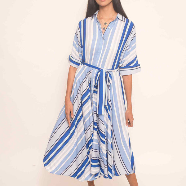 Canvas Zetta Dress in Blue