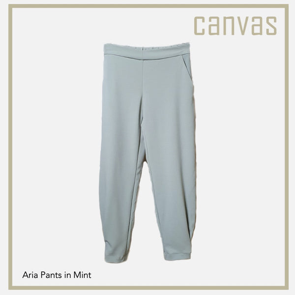 Canvas Aria Pants in Green