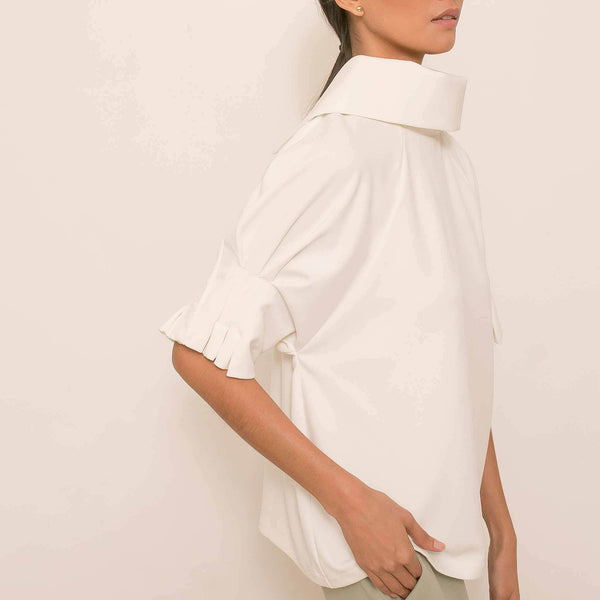Canvas Alby Top in Off White