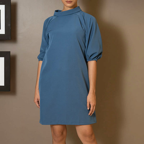 Canvas Dusty Dress in Dove Blue