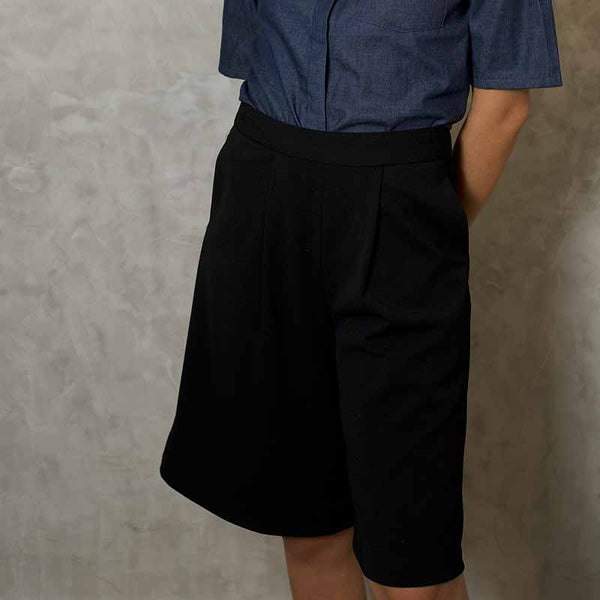 Canvas Elaina Culottes in Black