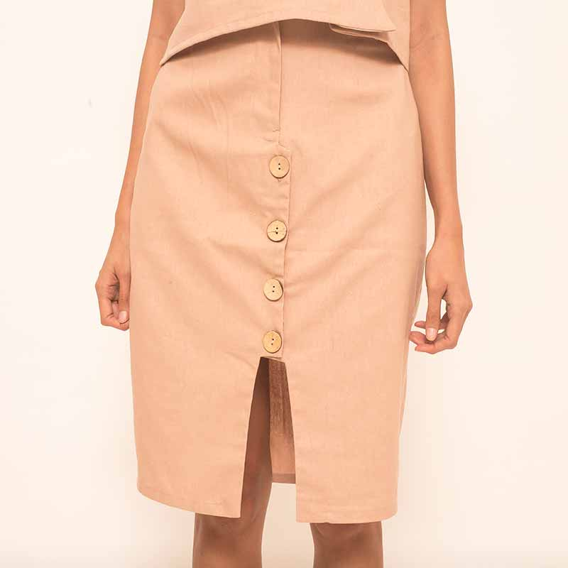 Canvas Helika Skirt in Mocha