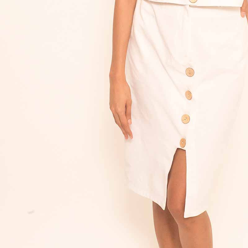 Canvas Helika Skirt in White