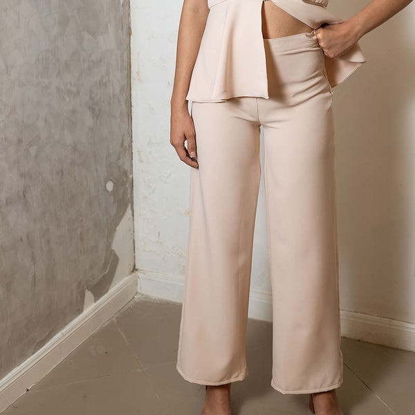 Canvas Jam Pants in Nude
