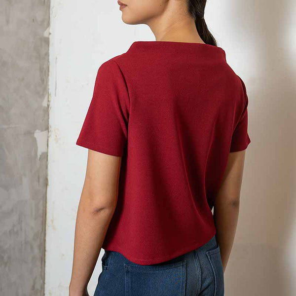 Canvas Juana Top in Wine