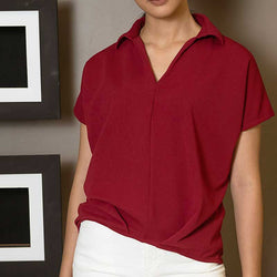 Canvas Keagan Top in Red