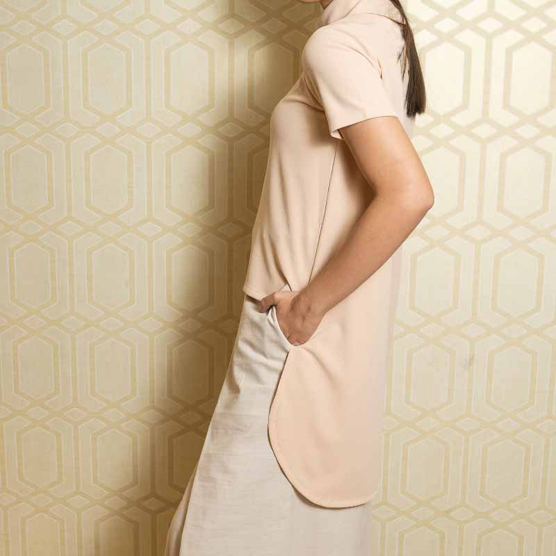 Canvas Mariana Top in Beige