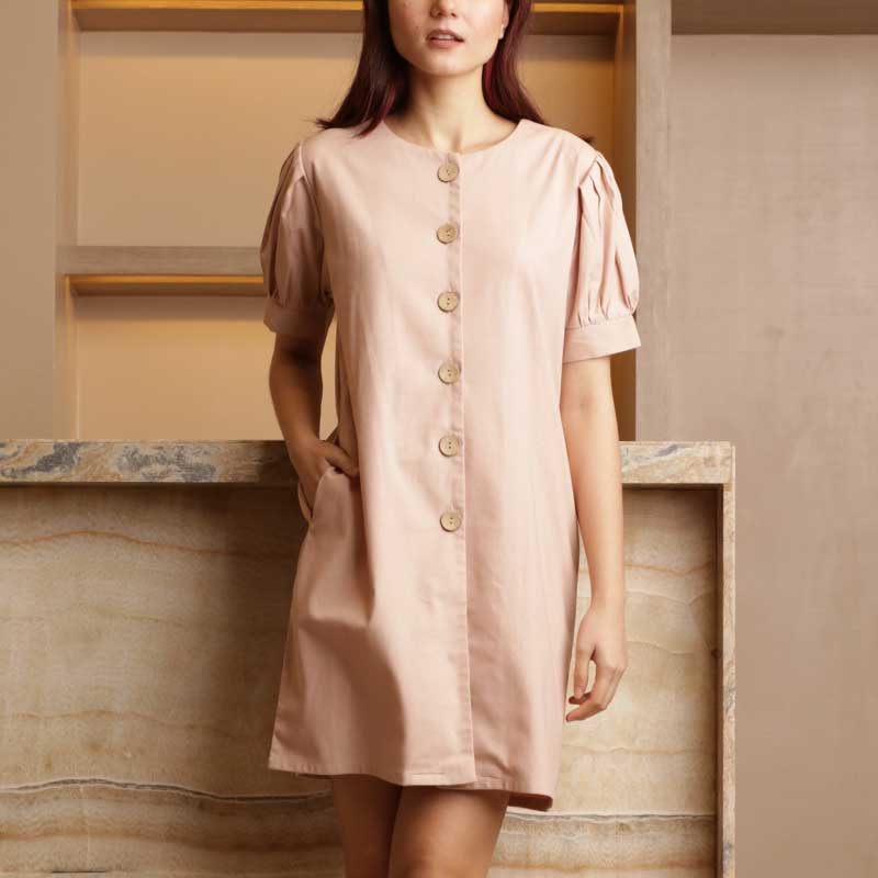 Canvas Philippa Dress in Nude