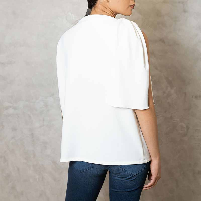 Canvas Sage Top in White