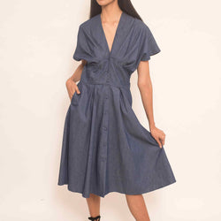 Canvas Talin Dress in Chambray