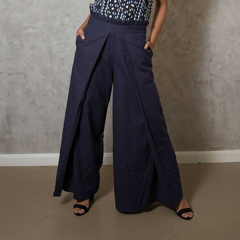 Canvas Amira Pants in Navy