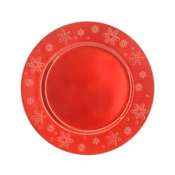 Christmas Charger Plate with Snowflake Prints