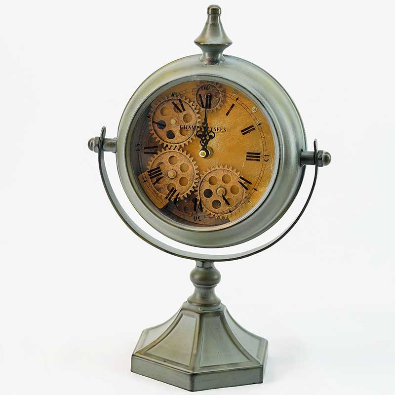 Clock | Vintage Rotating Desk Clock (Green)
