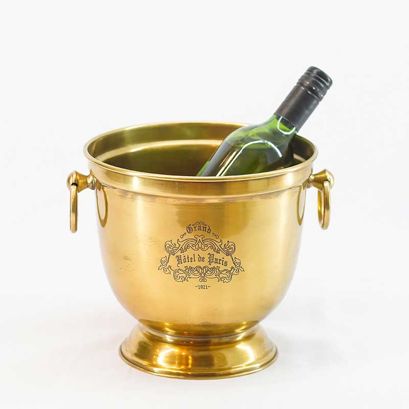 Décor | Brass Bucket with Ring Handles