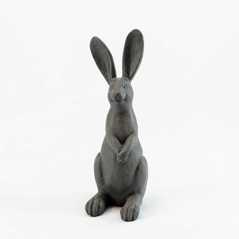 Black Rabbit Resin Figurine