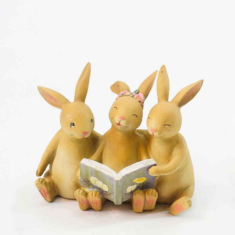 Figurine | Reading Rabbit Trio