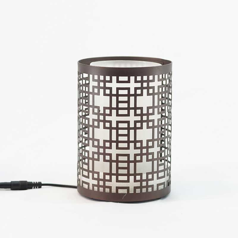 Humidifier - Brown Squares Cutout Design