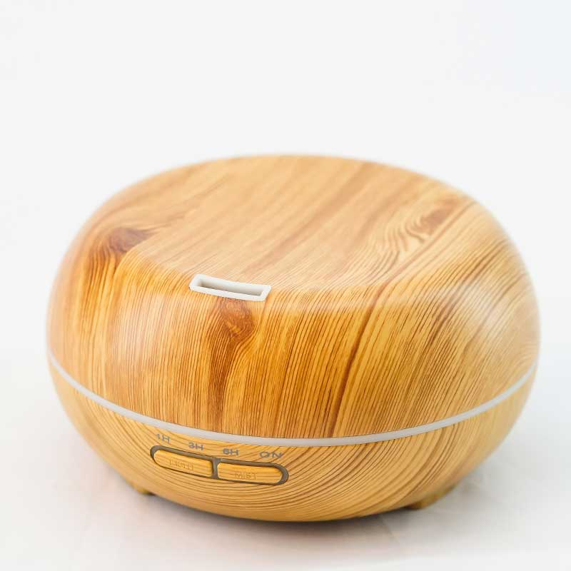 Aromatherapy Scent Diffuser / Humidifier - Faux Wood Disc Shaped
