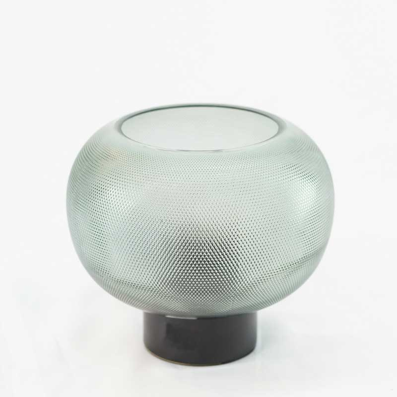 Lamps | Round Smoked Glass Lamp (Small)