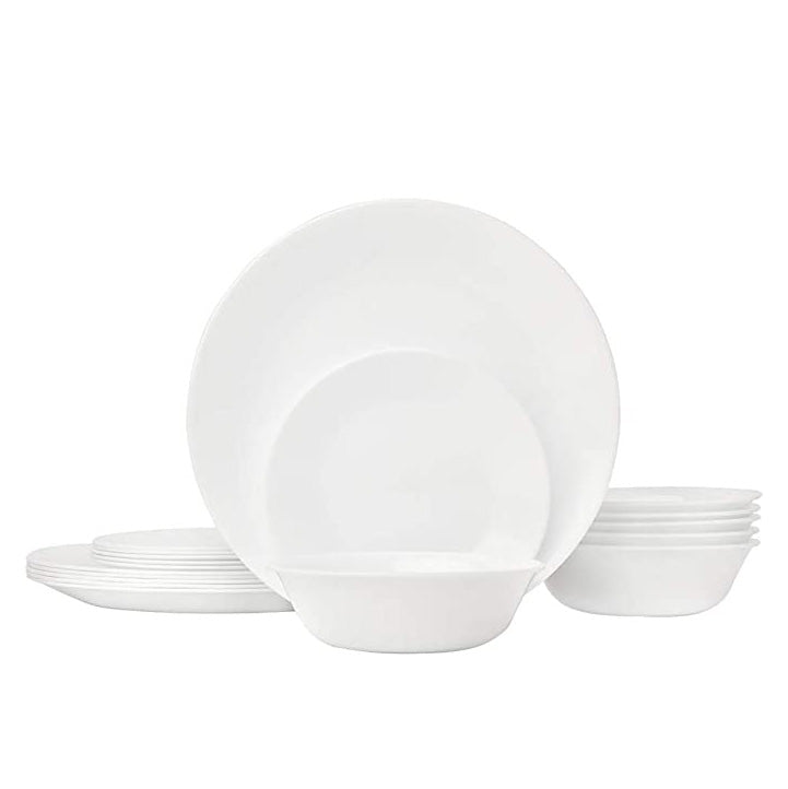 Corelle 18-Piece Dinner Set - Winter Frost White