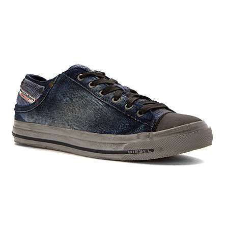 Diesel Men's Fashion Sneaker Magnete Exposure Low | Rain Bleach Denim/Indigo