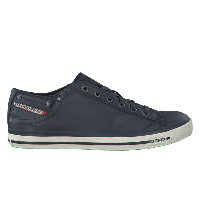 Diesel Men's Fashion Sneaker Magnete Exposure Low | Blue/White/Black