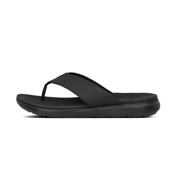 FitFlop Lido Men's Toe Post Sandals | Black/Choco Brown