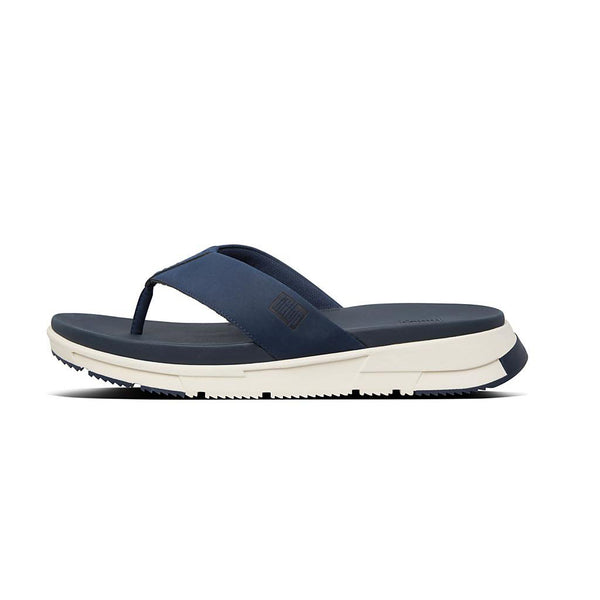 FitFlop Sporty Men's Toe Post Sandals | Black/Midnight Navy/Timberwolf
