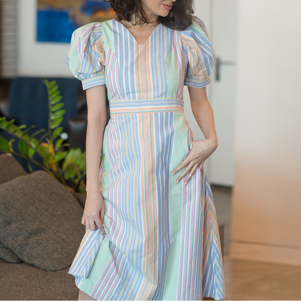 Canvas Fatima Multicolored Stripe Dress