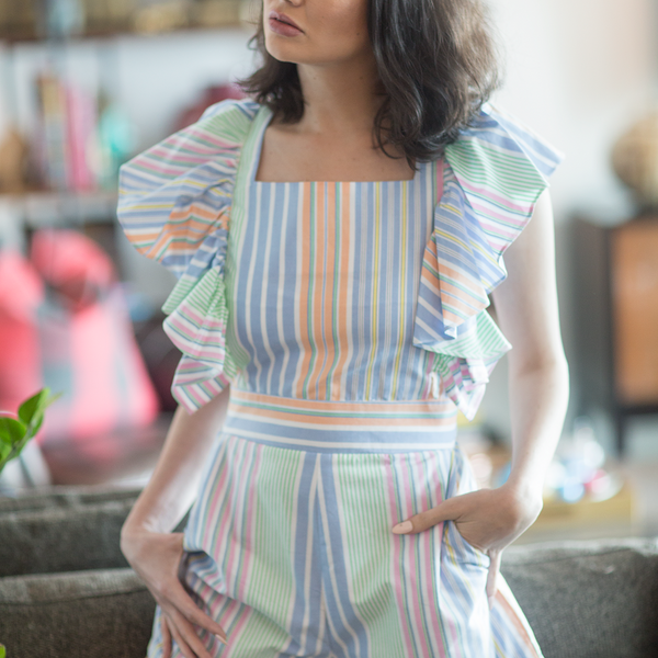 Canvas Felicity Multicolored Stripe Romper