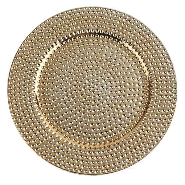 DLY HAMMERED CHARGER PLATE GOLD