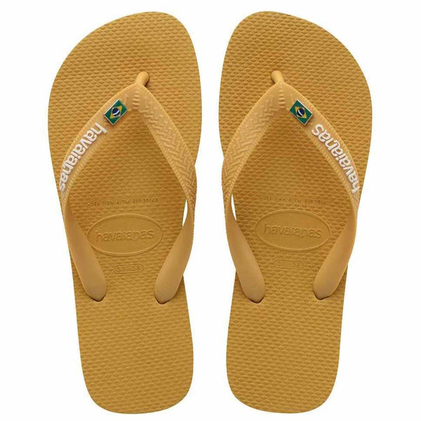 Havaianas Brasil Layers Flip Flops | Burned Yellow