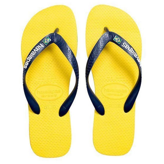 Havaianas Brasil Layers Flip Flops | Citrus Yellow