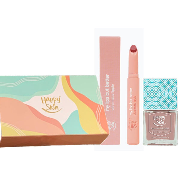 Happy Skin My Lips But Better + Gel Polish Gift Set