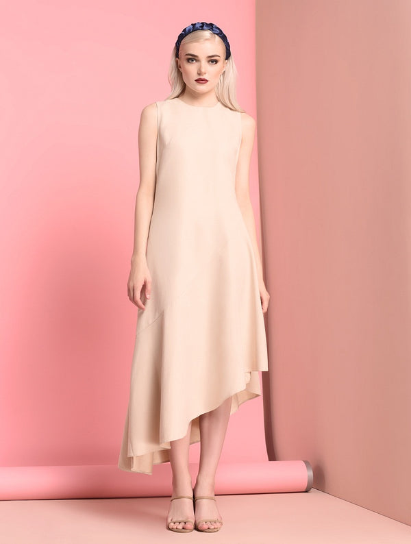 RAF Stunic Sleeveless Dress in Ivory
