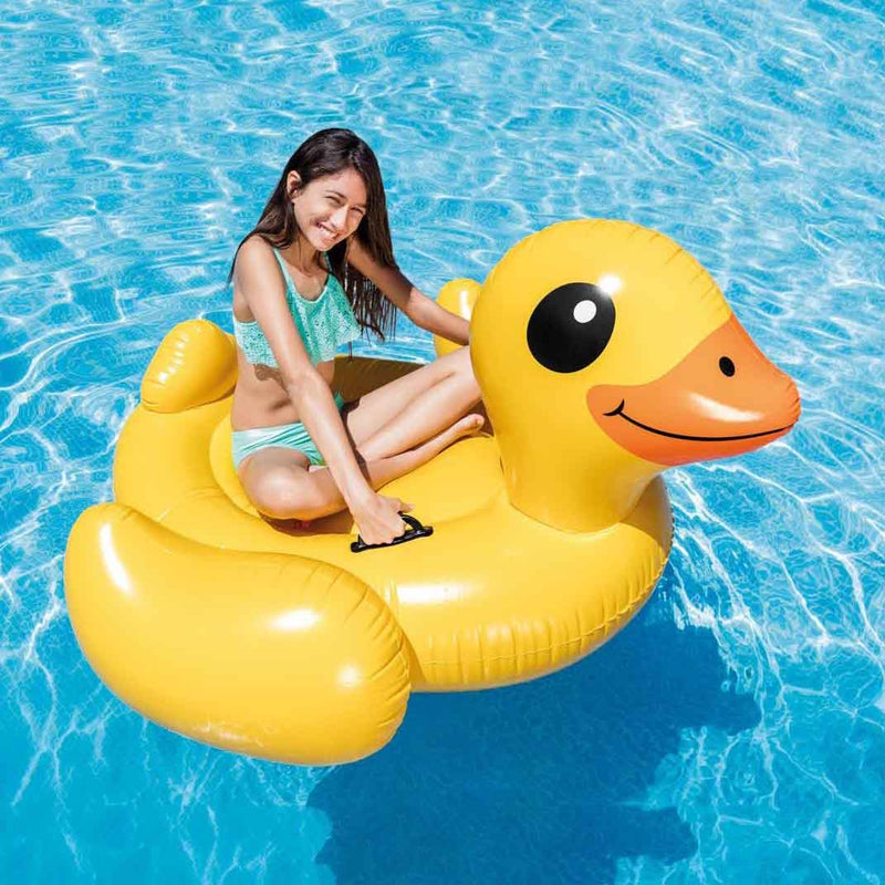 Intex Inflatable Yellow Duck Ride-On