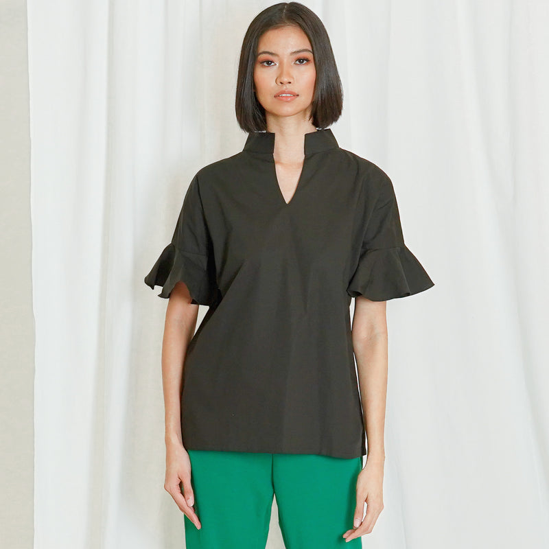 Canvas Ayden Top in Black