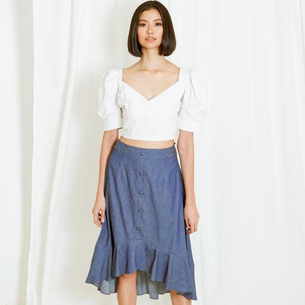 Canvas Omana Skirt in Chambray