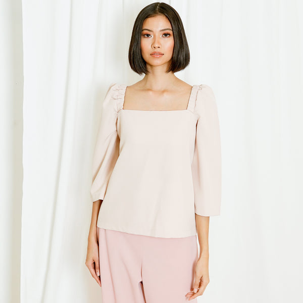 Canvas Tricia Top in Nude
