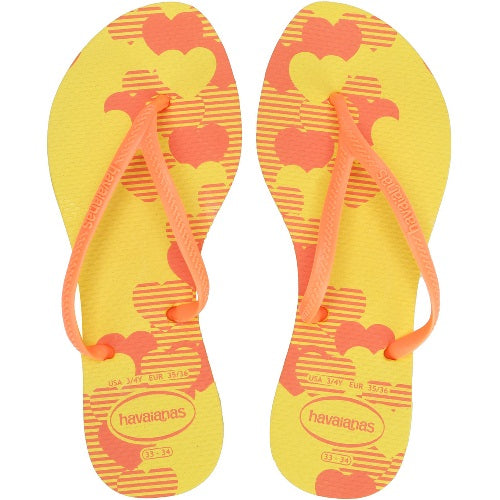 Havaianas Allegra Print Flip Flops | Light Yellow