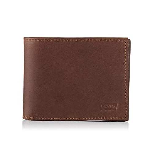 Levi's Men's Batwing Bi-Fold Wallet In Black/Brown