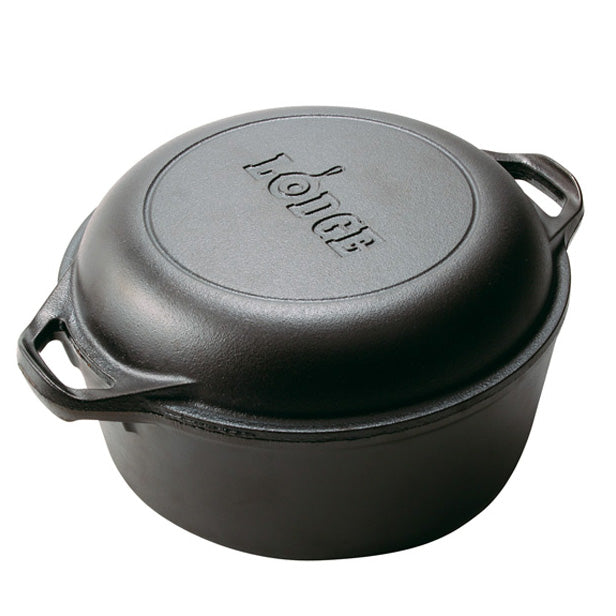 Lodge® Cast Iron 5 Quart Double Dutch Oven